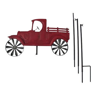 Farm Truck Wind Spinner Garden Stake Lawn Ornament Yard Art Outdoor Home Decor