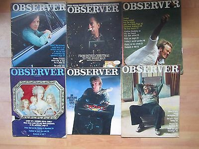 Job Lot Of 28 Vintage Observer  Magazines - Most Early To Mid 1970's