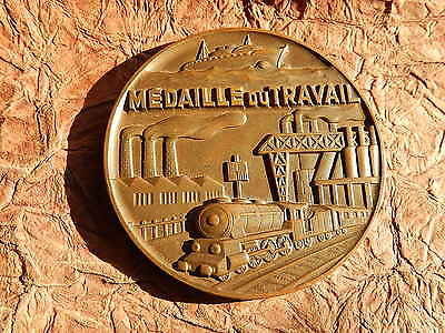 Medaille Metallurgie Bouches Du Rhone  Berard Train Locomotive Ferry