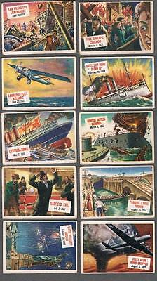 1954 Topps Scoop Trading Cards Lot of 98/156