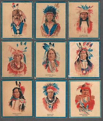 1930's Canadian Chewing Gum V254 Papoose Big Chiefs Trading Cards Complete Set
