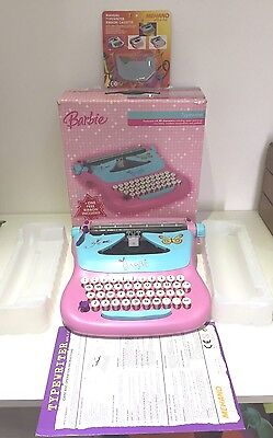 Complete Vintage Working Boxed Barbie Typewriter + Instructions + New Ribbon