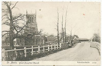 St. Neots, Great Stoughton Church, 1906 postcard