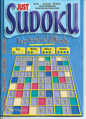 Just Sudoku Bumper Books 150+ Puzzles In Each 4 Levels Of Difficulty Free P/p 75