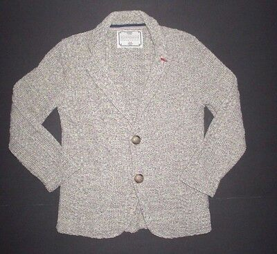 Girls Zara Made In Italy Black & Ivory Tweed  Blazer Cardigan Sweater Size 5 6