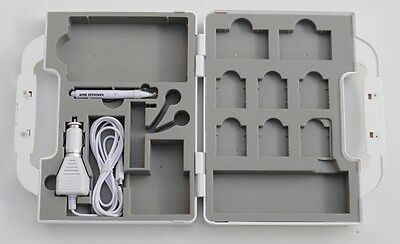 NINTENDO DS lite Suitcase Travel Kit Carry Bag Pack adapter White Kamikaze Gear