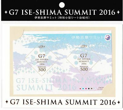 Japan 2016 - Block 265 - G7 Gipfel - Seide Silk Soie - Hologram sheet - Japon **