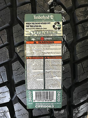 4 New LT 275 65 18 LRE 10 Ply Timberland A/T Tires