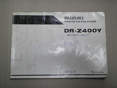 Suzuki DRZ 400 DRZ400 Y 2000 genuine parts catalogue 9900B-30132 USED