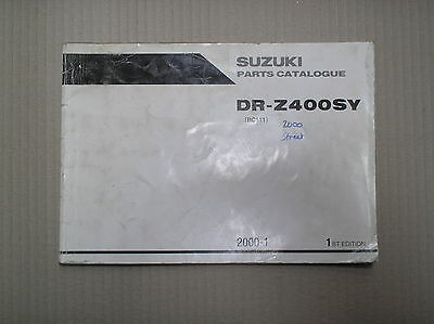 Suzuki DRZ 400 DRZ400 SY 2000 genuine parts catalogue 9900B-30134 USED