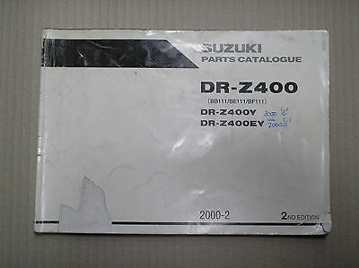 Suzuki DRZ 400 DRZ400 Y EY genuine parts catalogue 9900B-30132-001 USED
