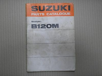 Suzuki 120 B120 B120M genuine parts catalogue May 1975 99000-93060 good USED