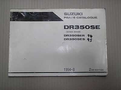 Suzuki DR 350 DR350 SE SER SES genuine parts catalogue 9900B-30093-010 USED
