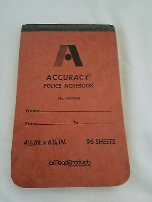 Accuracy Police notebook No 64-7908 ~ 4x6 96 pages Mead