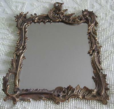 "1891-1911 National Brass and Iron Works 10"" X 12""  Beveled Mirror"