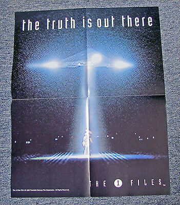 """Orig. 1995 The X-Files Mulder & Scullly """"the Truth Is Out There"""" Promo Poster"""