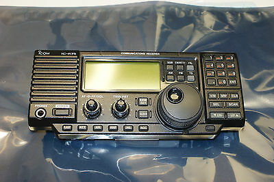 Icom IC-R75 Communications Receiver Complete Front Unit. Tested.