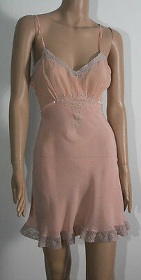 "VINTAGE 1930s LADIES PEACH CAMI KNICKERS PLAY SUIT TEDDY 32"" bust (5044)"