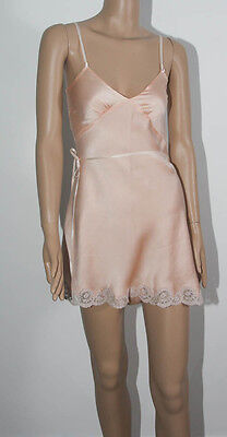 "VINTAGE 1930s LADIES PEACH SATIN CAMI KNICKERS PLAY SUIT TEDDY 30"" bust (5049)"