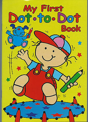 My First Dot-Dot Book Join The Dots And Colouring Good Quality Book Free P/p