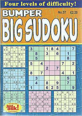 Bumper Sudoku Bumper Books 80+ Puzzles In Each 4 Levels Of Difficulty Free P/p