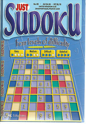 Just Sudoku Bumper Books 150+ Puzzles In Each 4 Levels Of Difficulty Free P/p 80