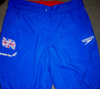 Rare Collectable Team Gb Gbr British Gas Speedo Jogging Bottom Trousers Size L