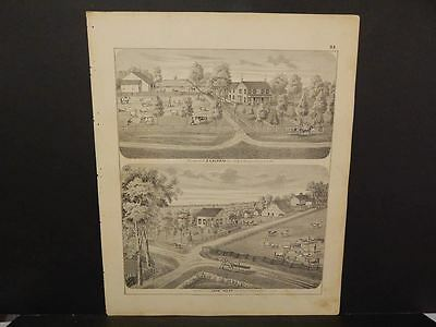 Illinois Greene County Map E.A. Eldred, John Kaser Engravings  c1872 Y12#60