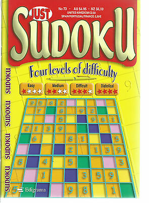 Just Sudoku Bumper Books 168+ Puzzles In Each 4 Levels Of Difficulty Free P/p 73