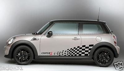 2 Side Stripe MINI COOPER S CHALLENGE Rally Race DECAL STICKER KIT