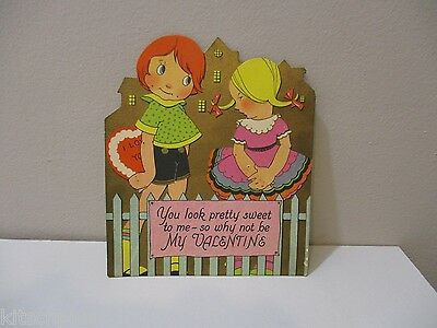 Vtg Valentine  Card Carrington Co.You Look Pretty Sweet to Me Art Deco 30's 40's