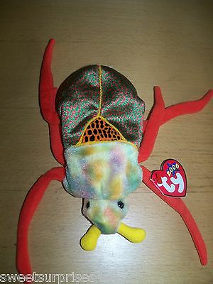 Plush BUG insect NWT ty 2000 stuffed animal  6""