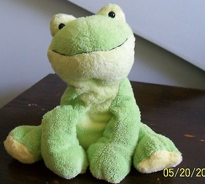 plush green frog ty pluffies LEAPERS stuffed animal 2006 super soft
