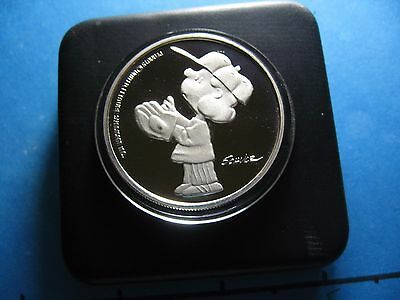 Lucy Playing Baseball Snoopy 1995 Peanuts 45Th Anniversary 999 Silver Coin Case