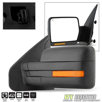 2007-2014 Ford F150 Power+Heated+LED Signal+Puddle View Mirror Left Driver Side