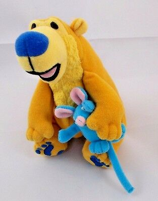 "Mattel Bear in the Big Blue House Plush 5"" Tall w/ Tutter Mouse"