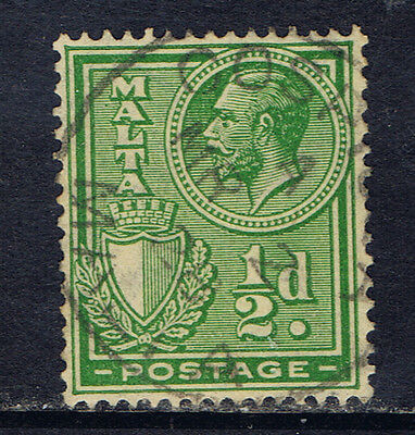 Malta #132(2) 1926 1/2 pence green King George V Used