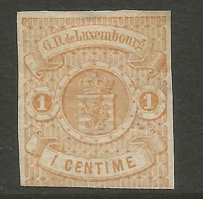Luxembourg 1863 1C Imperforate Mi 3, Mng (*)