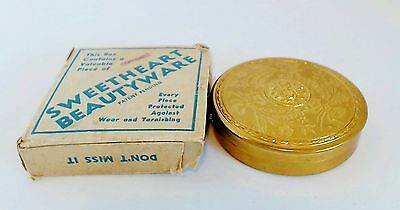 Sweetheart Beautyware Powder Compact Movie Theater Giveaway w/ Box c 1930's EUC