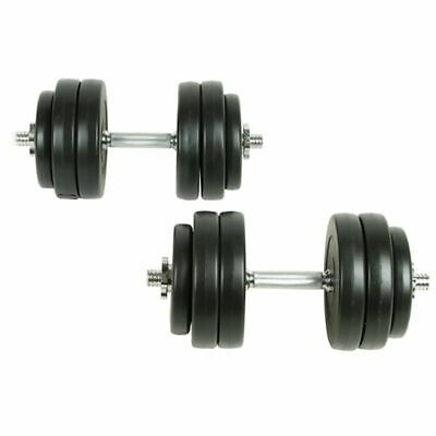 New 2pc Dumbbell Weight Set 30kg Home Gym Fitness Barbell Exercise Adjustable