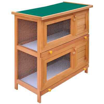 Rabbit Hutch Cage Pet Guinea Pig Chicken Coop Ferret Hen Run House Wooden 2 Door