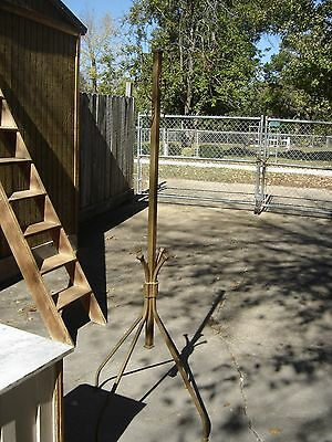 Antique Metal Coat-Hat Rack Stand with 4 Hooks. Arts & Crafts style.  7841