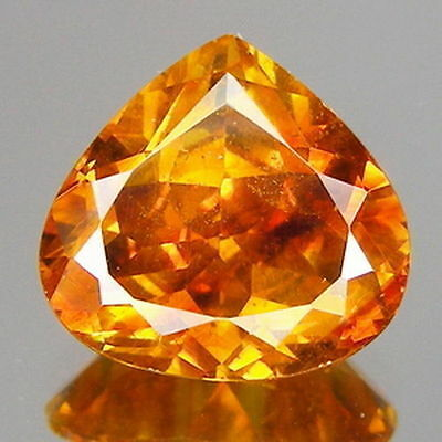 6.00cts Rare Pear Red Orange Natural Sphalerite Loose Gemstones Free Shipping
