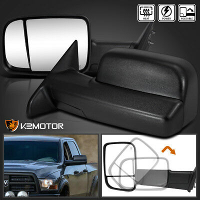 2009-2012 Dodge Ram 1500 Power+Heated Flip Up Towing Tow Side Mirrors Left+RIght