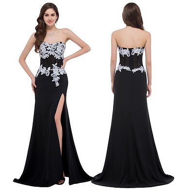 Damen Lang Abendkleider Cocktailkleid Ballkleid Party Brautkleid Gr:32/34/36-46