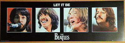 The Beatles -  Lithograph - Poster - 1968 - Let It Be - Apple Corps Licensed