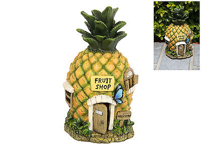 Pineapple Fairy Gnome House Fruit Cottage Statue Figurine Collection Garden 21cm