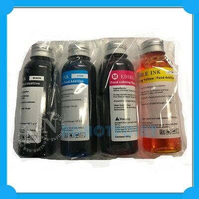 NES Edible Cake Refill Ink Set (100ml x4) for Canon Printer PGI650/CLI651 PGI525