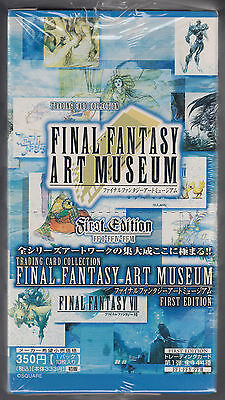 Final Fantasy Art Museum Trading Card First Edition Sealed Box Japanese