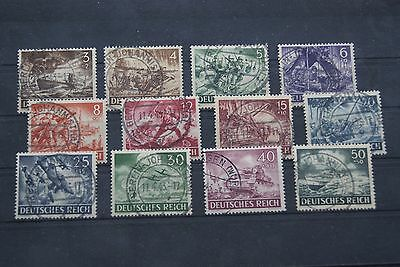 German Stamps. 1943 THIRD REICH ARMED FORCES SET. SCARCE USED. HIGH C/V.